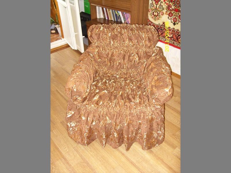 Накидка на кресла и диваны своими руками