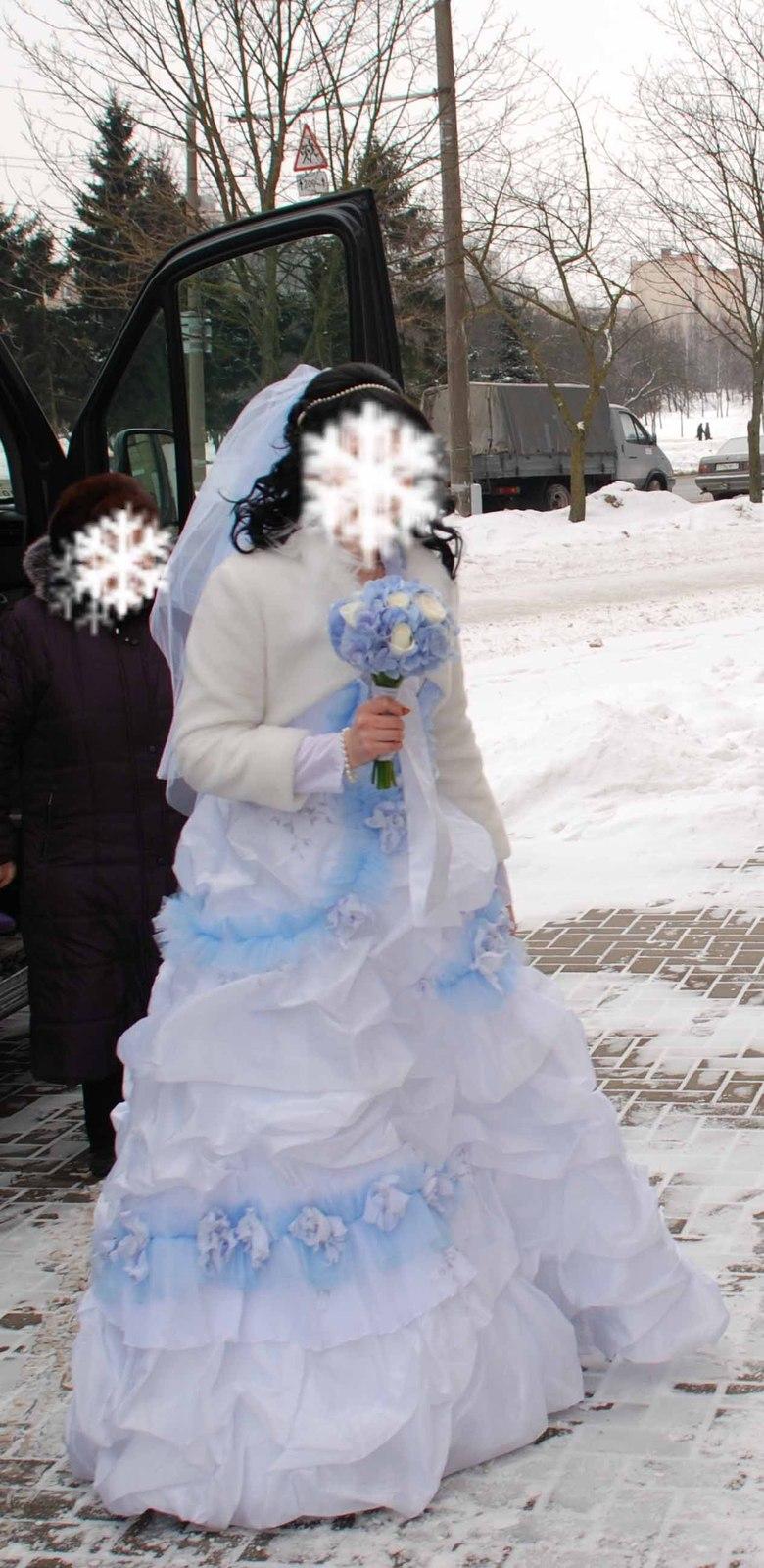 Свадебное платье голубого цвета 12