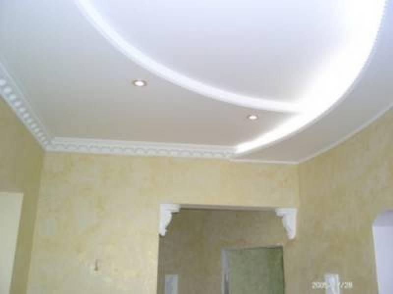 Потолок из гипсокартона своими руками для зала фото