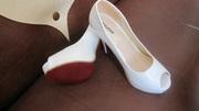 Туфли женские белые лакированные