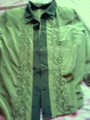 блузка зеленая р.44