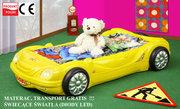 Кровать-машина детская  с  LED подсветкой. Новинка. Доставка по РБ