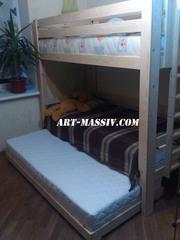 трехъярусная кровать с выкатным ярусом