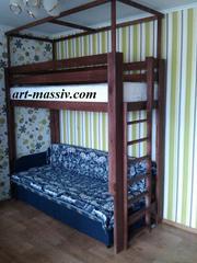 Кровать-чердак с балдахином