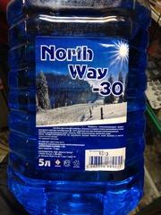 Стеклоомыватель зимний (незамерзайка)  -30ºС  North Way,  5 литров