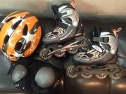 Ролики детские +шлем+ защита р29-32 Fila