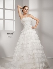 Французское роскошное свадебное платье Herm`s-Belgium.1 раз б/у.Продаж