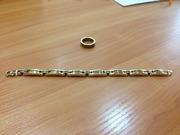 Ищете,  что подарить любимому? Золотой браслет и кольцо из Италии