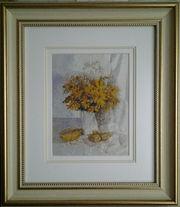 Картина-миниатюра «Жёлтый букет»,  ручная работа,  вышивка.