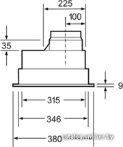 Кухонная вытяжка встроенная в шкафчик  Bosch DHL 545S