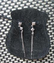 Серьги-гвоздики из серебра 925 пробы