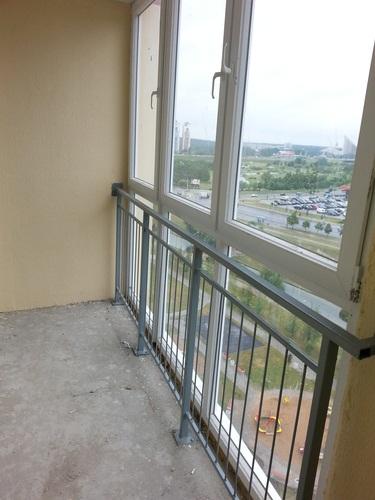 Балконная рама пвх из новостройки 2014 года. купить в минске.