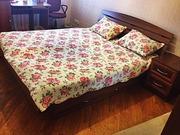 Кровать двуспальная с тумбой