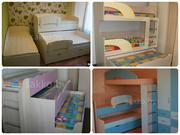 Трехъярусная кровать,  кровать для 3 детей,  трехуровневая кровать