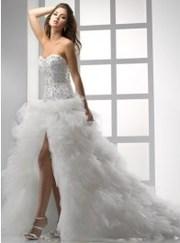 изысканное свадебное платье (белоснежное),  размер - 38-44,  рост 178