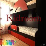 Двухъярусные кровати со ступеньками,  выдвижные кровати для двоих детей
