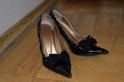 Лаковые туфли с бантом,  36-37 размер