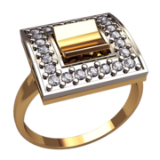 Комплект золотой (серьги+кольцо)
