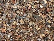 Щебень гравийный разноцветный натуральный в мешках,  доставка
