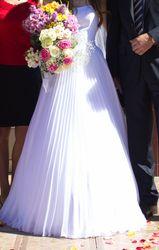 Свадебное платье в Греческом стиле, белоснежное, с лессировочкой
