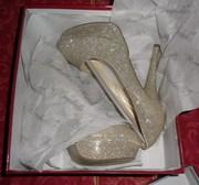 Вечерние туфли в золоте