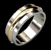 Кольцо,  золото 585,  вес 5 г.,  бриллиант 6шт-Кр-57-3/5А-0, 048 карат.