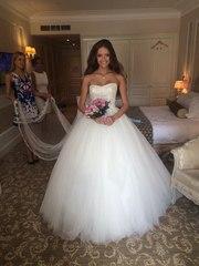 Шикарное брендовое свадебное платье!