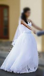 Пышное красивое свадебное платье с кружевом