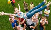 Детский лагерь на летних каникулах