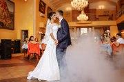 Продаю свадебное платье (в пол,  атласное),  недорого,  б/у +балеро круж.