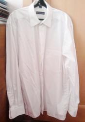 Рубашка мужская белая р.48