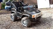 Детский электромобиль джип Hummer черный