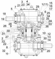 Редуктор поворотный КДП-310.14.11.000