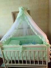 Кроватка детская Алита с ортопедическим матрасом