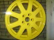 Полимерная покраска дисков.