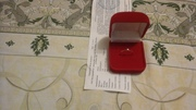 Продам золотое кольцо с бриллиантом  17р.