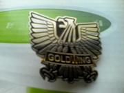 Металлический значок для байкеров Gold Wing