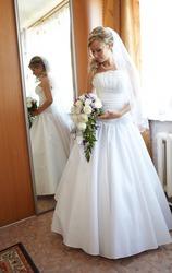 свадебное платье в хорошем состоянии. А-силуэт!