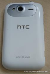 Смартфон HTC Wildfire S,  белый корупус.