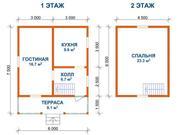 Дачный недорогой Дом из бруса с установкой до 100км от Минска