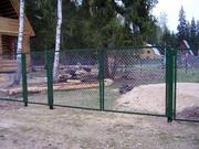 Секции заборные металлические с оставкой прямо к дому