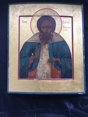 Икона Преподобный Сергий Радонежский,  19в