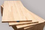 Мебельный щит цельноламельный и срощенный: дуб,  береза,   ясень