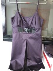 Платье с пиджаком,  р44-46. Новое,  темный баклажан
