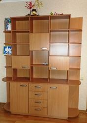 Книжный шкаф со столом и тумбочкой