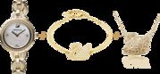 Часы Swarovski с браслетом и кулоном.