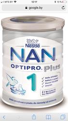 Детская смесь нан nan optipro plus 1
