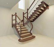 Лестница деревянная любой сложности. Проектирование. Гарантия. Монтаж.
