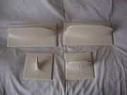 Аксессуары керамические для ванной комнаты.