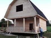 Сруб Дома из бруса Алексей 6 × 6 с террасой,  установка 10 дней